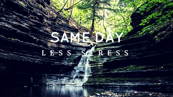 Same day, less stress